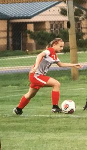 Dani is a sophomore at Fishers High School and has been involved in soccer most of her life. She plays wing forward and hopes to continue playing soccer in college one day.