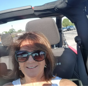 One of Kim's goals after her stroke was to be able to drive her stick shift jeep again. Kim never gave up, and by July 2020 she was able to drive her jeep to her therapy appointment at Riverview Health Rehab & Fitness.