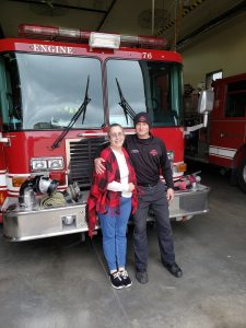 After recovering from a heart attack, Laurie Coppess visited the Noblesville Fire Department station that responded to her emergency to thank the EMS crew who helped save her life.