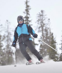 Now healed from his shoulder replacement surgery, Dr. Louthan is excited to be active again and to get back to the hobbies he loves, like skiing.